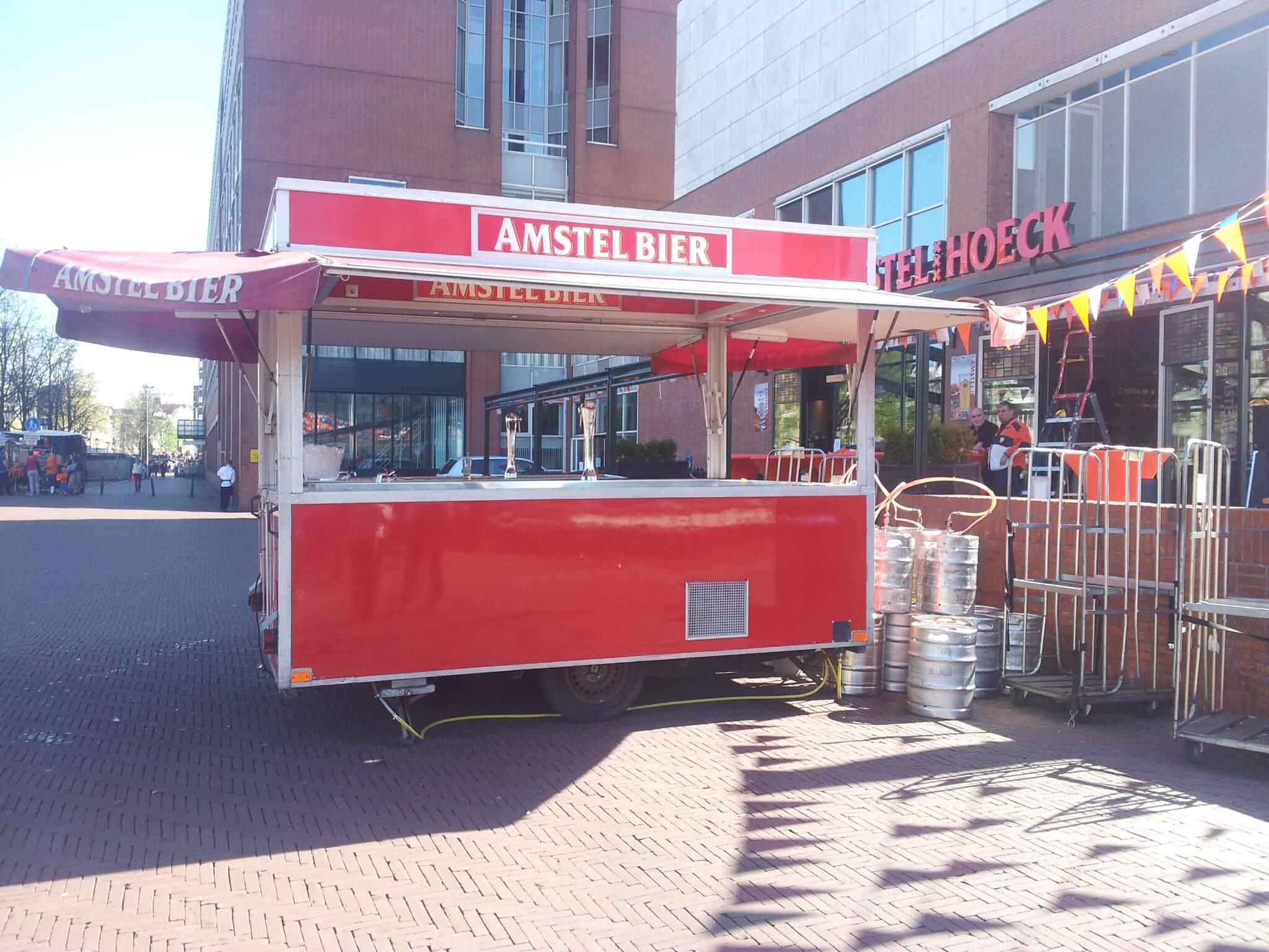 amstel bier tapwagen stand